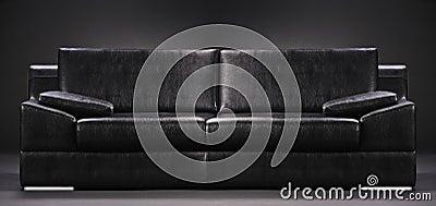 An empty sofa