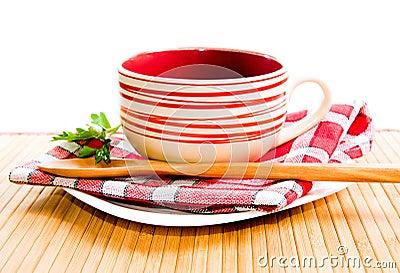 Empty soup-plate