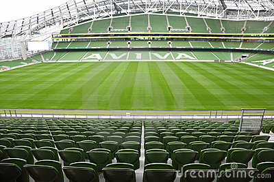 Empty stadium Aviva Editorial Photography
