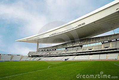 Empty Stadium and The Field