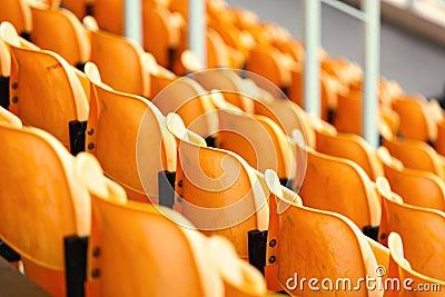 Empty stadium seat