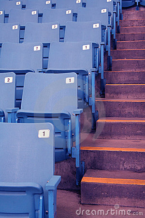 Free Empty Stadium Seats Stock Images - 535594