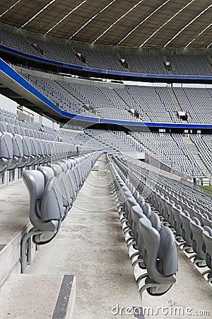Empty Stadium Tribunes