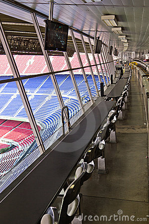 Empty Stadium VIP Tribunes