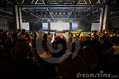 Empty stage and audience Editorial Stock Photo