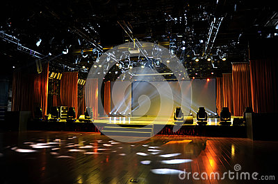 Empty stage in light
