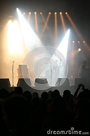Empty Stage Lights