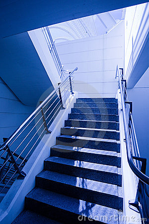 Empty staircase in office