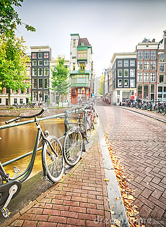 An empty street in Amsterdam