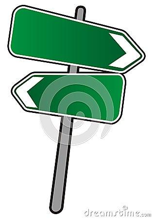 Empty Street arrows sign