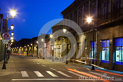 Empty street in Baia Mare Editorial Photography