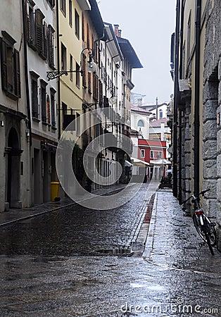Empty Street in the Rain