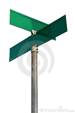 Empty Street Signs