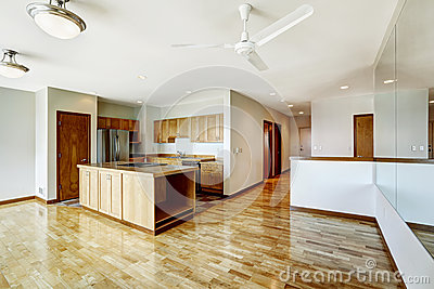 Empty Studio Apartment Residential Building In Downtown Seatte Stock Photo