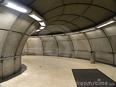 Empty subway station in Bilbao