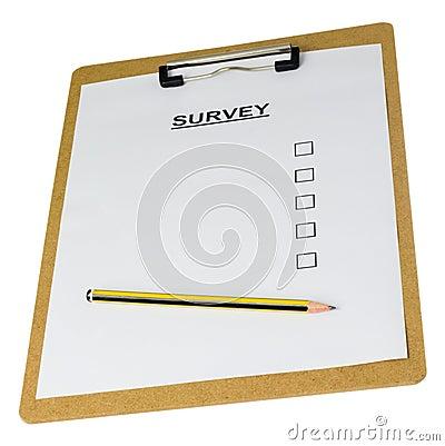 Empty survey form