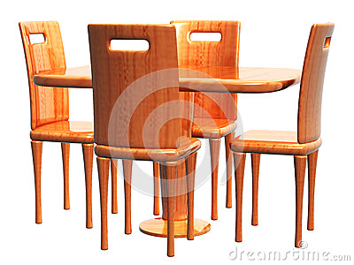 Empty Table and Chair_Raster
