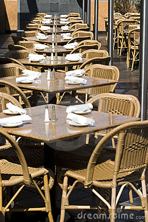 Empty Tables in restaurant
