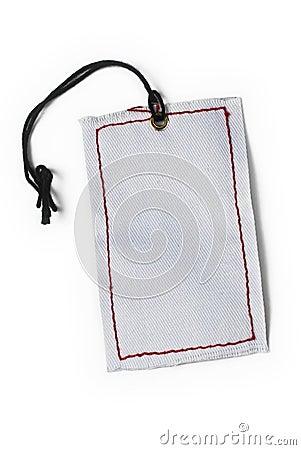 Empty tag atado con la cadena