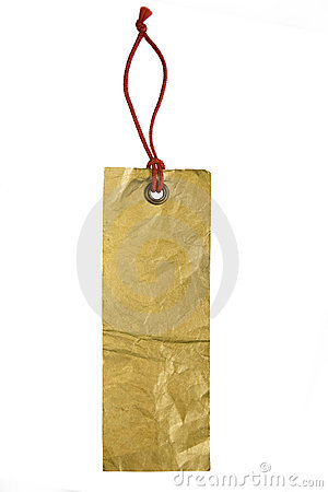 Empty tag isolated on white background