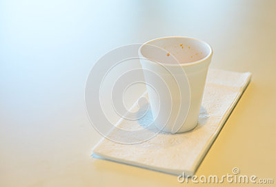 An empty tea cup