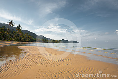 Empty Thai Tropical Beach H