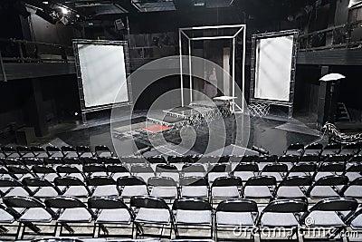 Empty theater scene of School studio MHAT Editorial Stock Photo