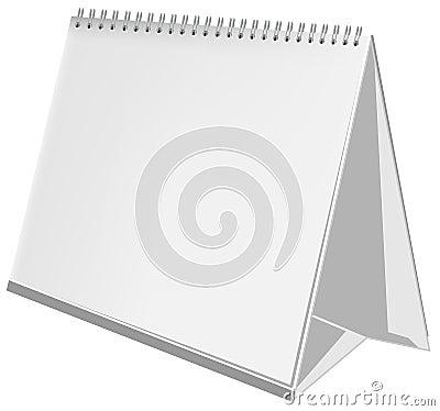 Empty three-dimensional calendar