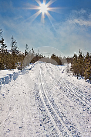 Empty trails for cross-country skiing