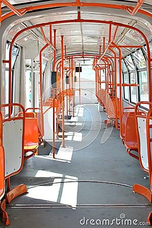 Empty tramway