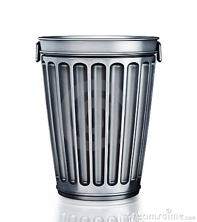 An Empty Trash Can Royalty Free Stock Photo - Image: 18652855