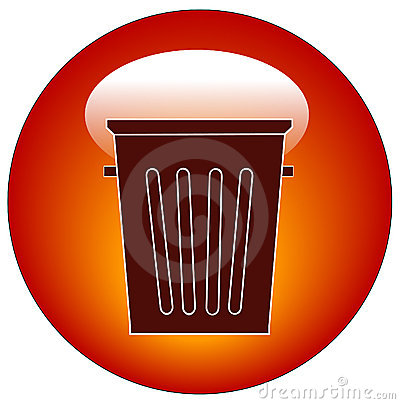 Empty trash can icon