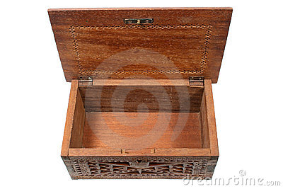 Empty treasure chest.