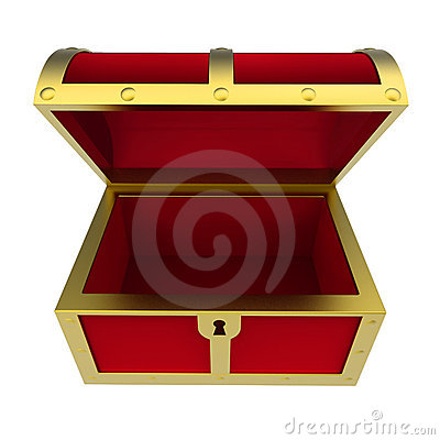 Free Empty Treasure Chest Isolated Royalty Free Stock Photography - 7599517