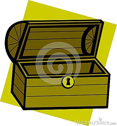 empty treasure chest vector illustration