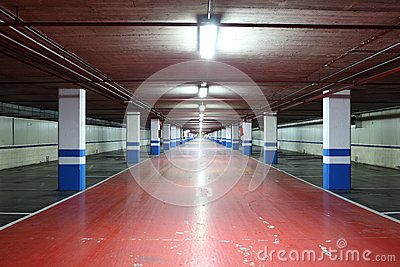 Empty underground garage