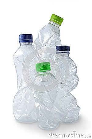 Empty Used Plastic Bottles Royalty Free Stock Image