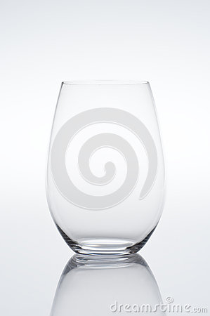 Empty vine glass on gradient background