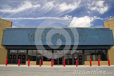Empty WalMart storefront Editorial Stock Image