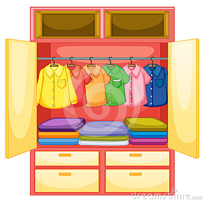 Free Empty Wardrobe Royalty Free Stock Image - 24555306