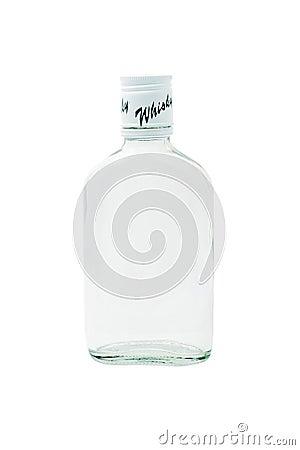 Empty whiskey glass bottle