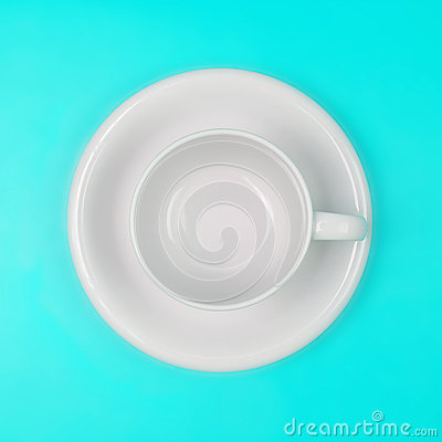 Free Empty White Coffee Or Tea Cup On Vibrant Color Background Stock Photography - 56849552