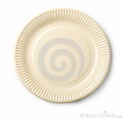 Empty white dish i
