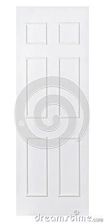 Empty white door isolated on white