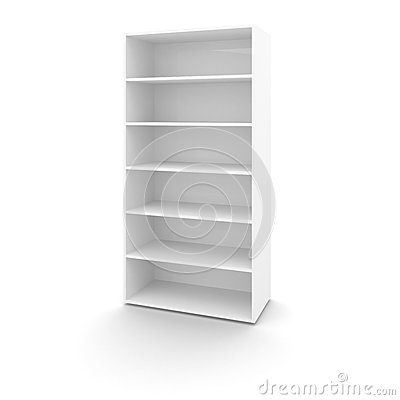 Empty white office cabinet