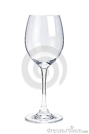 Empty white wine glass