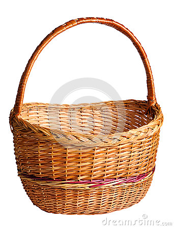Free Empty Wicker Basket Stock Photography - 32008342