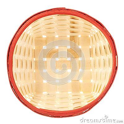 Free Empty Wicker Basket Isolated Stock Photo - 37724160