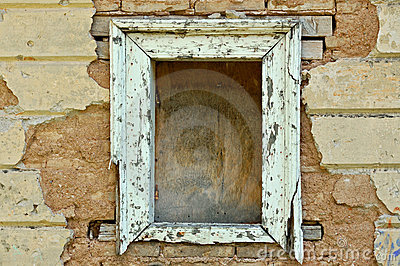 Empty window frame grunge background texture