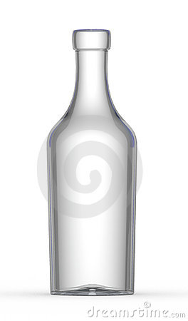 Free Empty Wine Bottle Royalty Free Stock Photography - 7451617